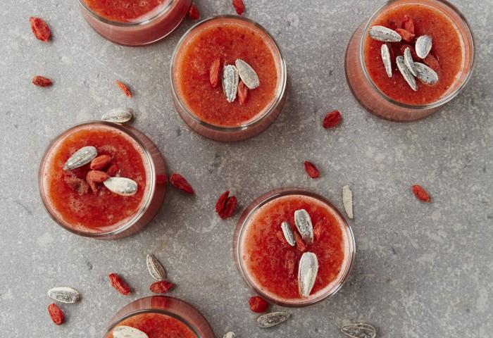 Aardbeiensoepje met chilipeper