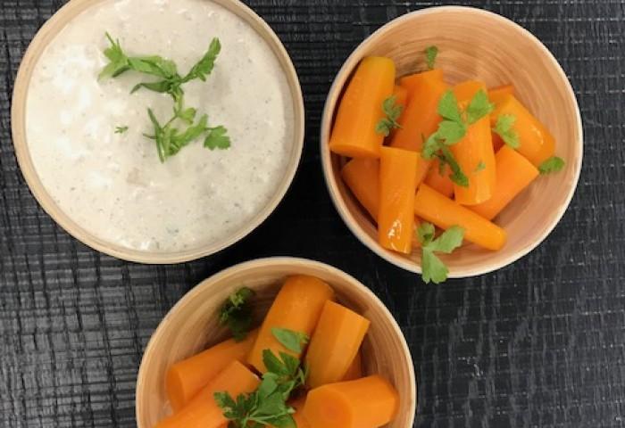Wortelsalade met yoghurtdip | Ottolenghi